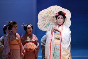 Madama Butterfly with parasol photo by Sam Garcia